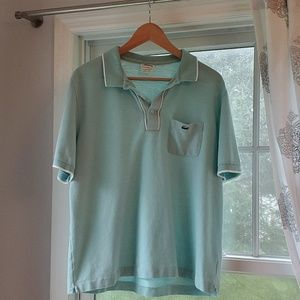 Large Lacoste mint green mens shirt
